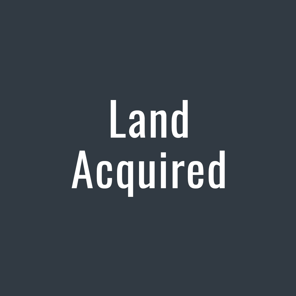 Land Acquired